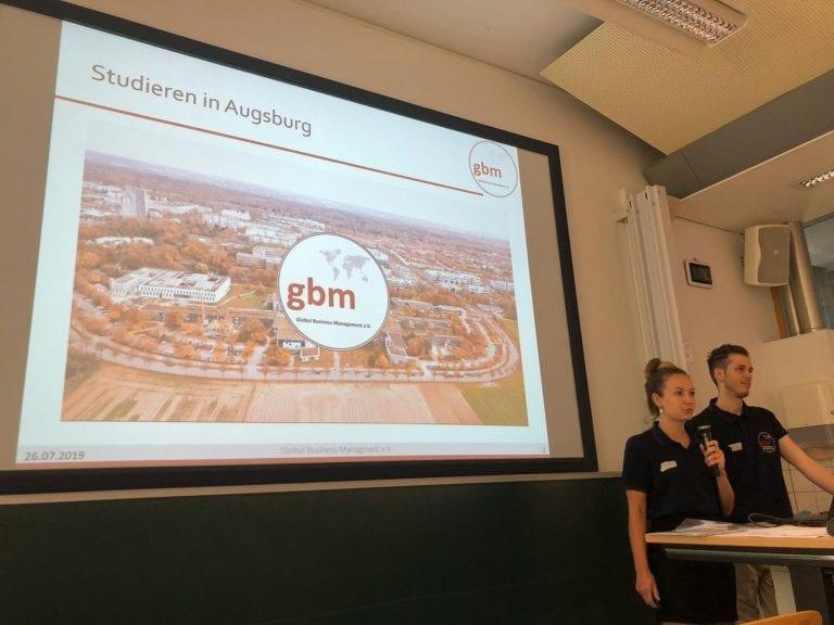 Auswahlgespräche 2019 | Präsentation durch den 1. und 2. Vorstand | © GBM e. V.
